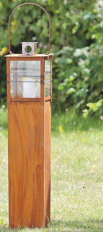 laterne ancona 2tlg metall rost gartenlaterne gartendeko garten versch gr en ebay. Black Bedroom Furniture Sets. Home Design Ideas